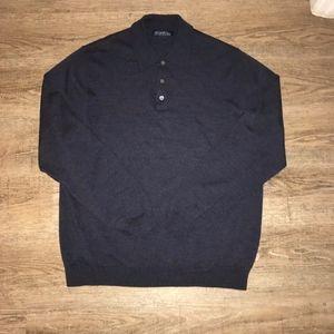 Brooks Brother Navy Blue 100% Merino Wool 3 Button